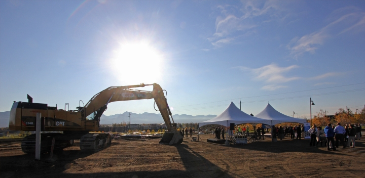 Ridgeline Terrace, a new 70-unit housing development on Mountain View Drive, broke ground in September 2014.