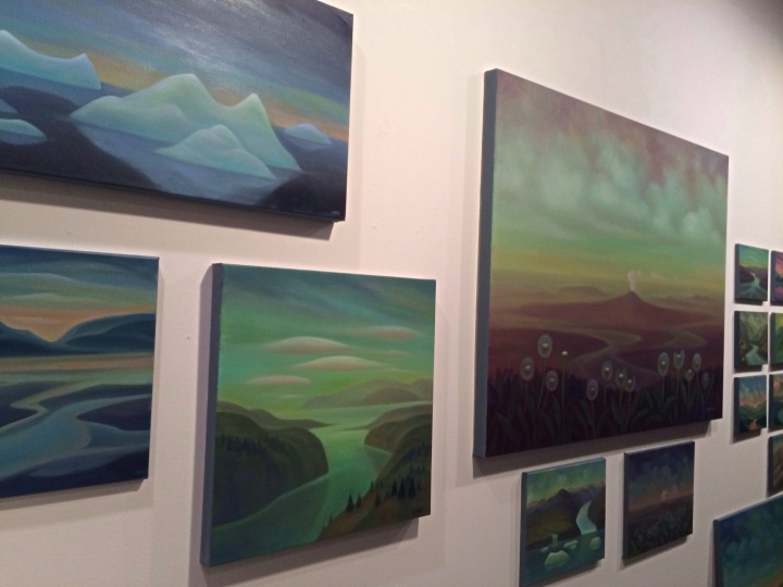 Art by Linda Lyons on display at a Mountain View First Friday event in December 2014.