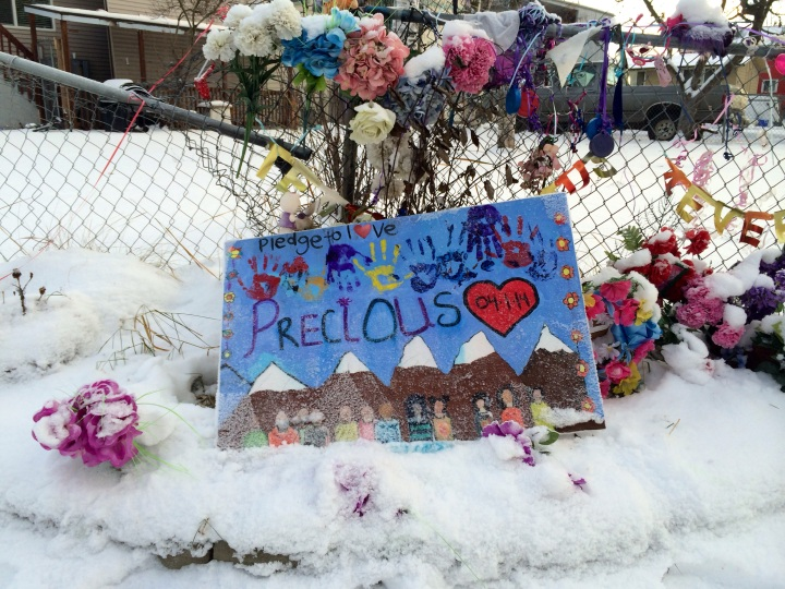 The community came together to grieve when Precious Alex, 15, was killed by a gunshot through her bedroom window April 1.