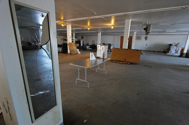 Inside the Brewster's building days before its demolition.
