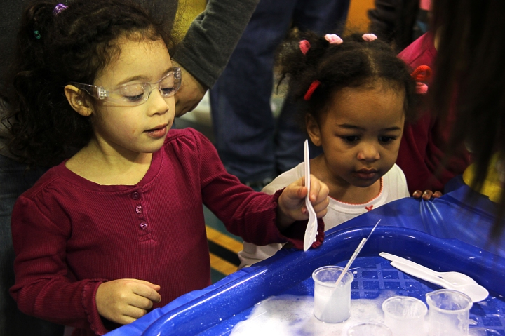 Hands-on activities included lots of chemistry.
