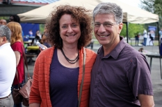 Anchorage Mayor-elect Ethan Berkowitz and his wife, Mara Kimmel.