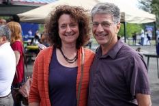 Anchorage Mayor-elect Ethan Berkowitz and his wife, Mara Kimmel.