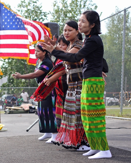 Burmese dancing at a World Refugee Day event at Mountain View Lions Park, June 19.