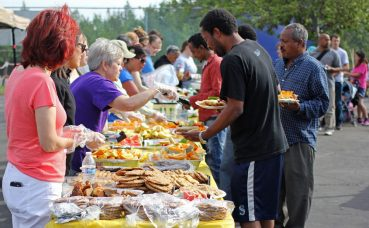 Dinner served at a World Refugee Day event at Mountain View Lions Park, June 19.