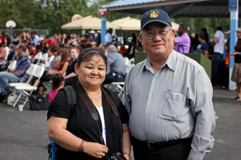 Mai Xiong and Pasert Lee, president of the Hmong Alaska Community, Inc.