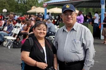 Mai Xiong and Pasert Lee, president of the Hmong Alaska Community, Inc.