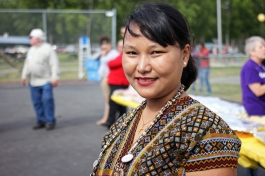 Shelly Paw at a World Refugee Day event at Mountain View Lions Park, June 19.