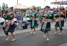 The White Cloud Dancers perform at a World Refugee Day event at Mountain View Lions Park, June 19.