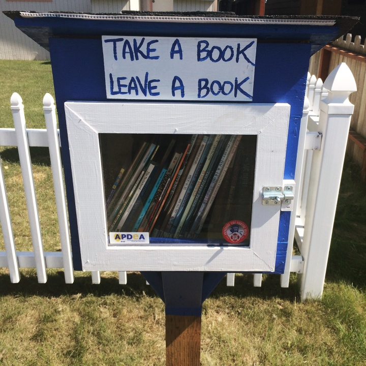 A Little Free Library on N. Klevin Street.