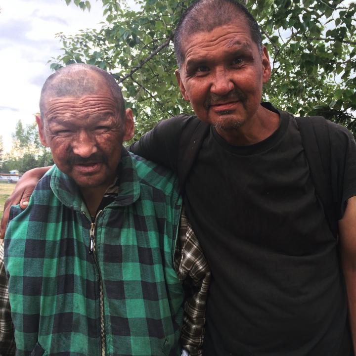 Brothers Peter & Richard Kosbruk at a community barbecue at Davis Park.