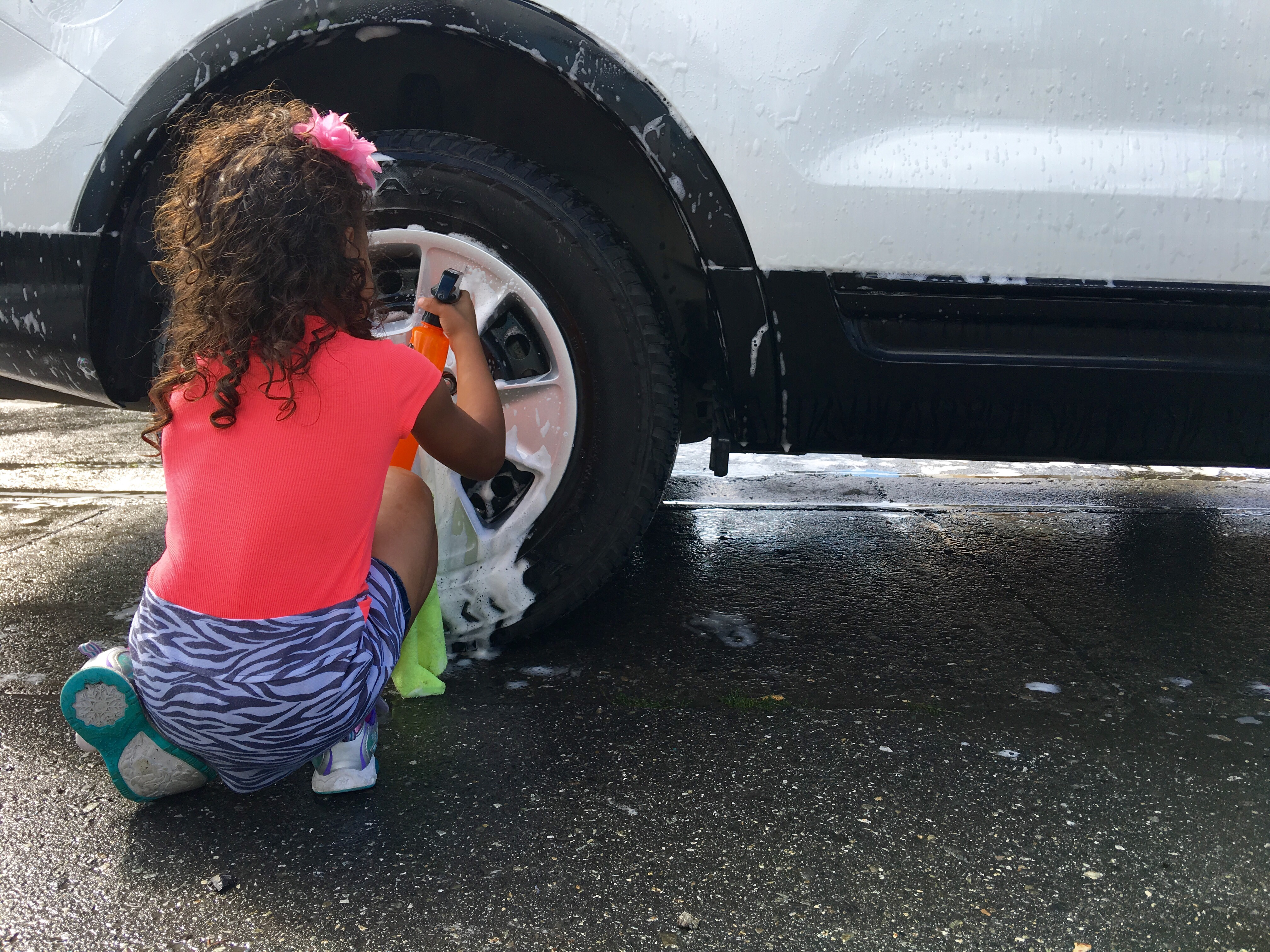 Car People: On Price Street, Washing Cars With Police