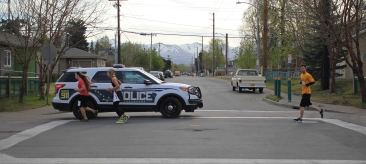 The annual Faster Than a Falcon 5k drew hundreds of runners, police and volunteers to Mountain View May 12, 2017.