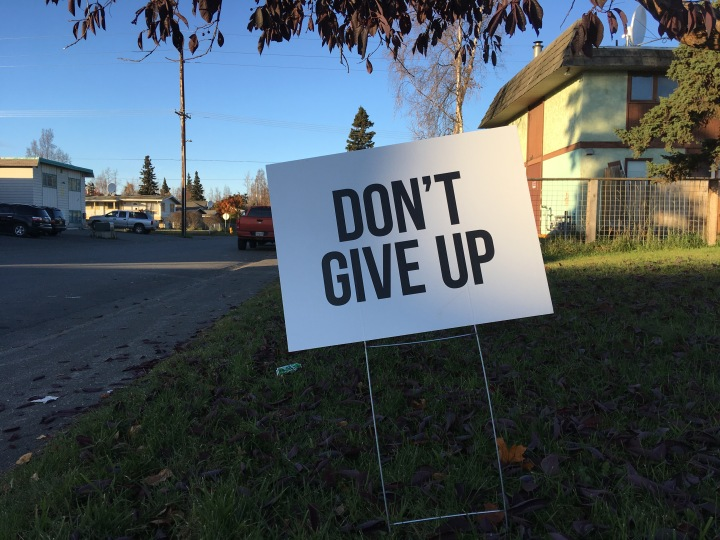 A sign along North Price Street on Oct. 16, 2017.
